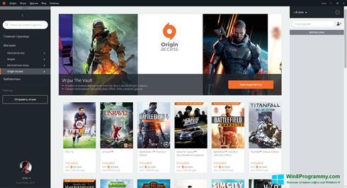 Скриншот программы Origin для Windows 8