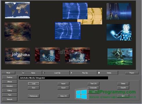 Скриншот программы JahShaka для Windows 8