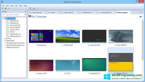 Скриншот программы VMware Workstation для Windows 8