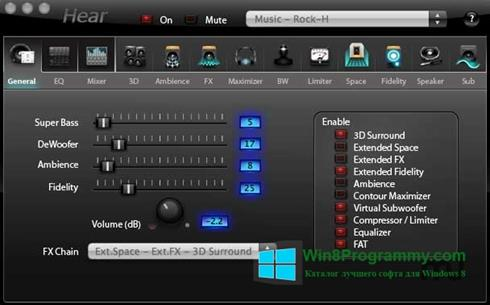 Скриншот программы Hear для Windows 8
