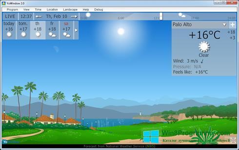 Скриншот программы YoWindow для Windows 8