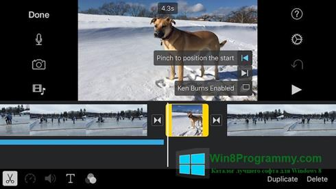 Скриншот программы iMovie для Windows 8
