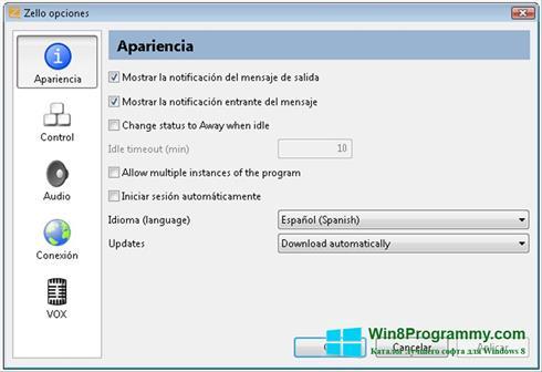 Скриншот программы Zello для Windows 8