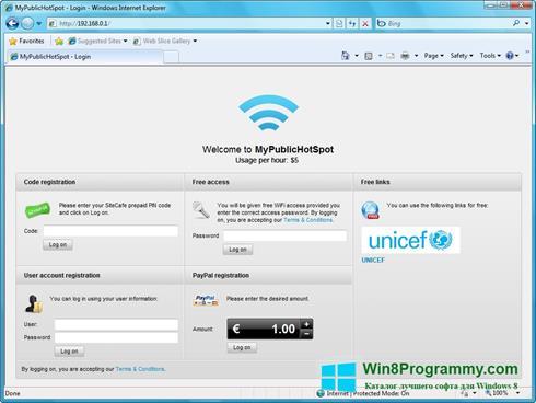Скриншот программы MyHotSpot для Windows 8