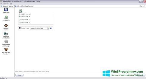 Скриншот программы BadCopy Pro для Windows 8