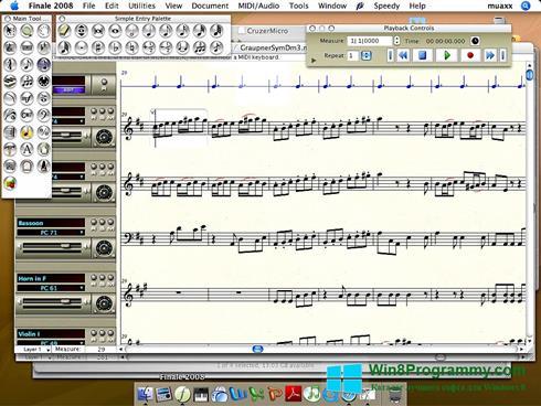 Скриншот программы Finale для Windows 8