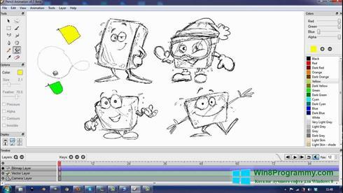 Скриншот программы Pencil для Windows 8
