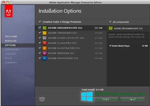 Скриншот программы Adobe Application Manager для Windows 8