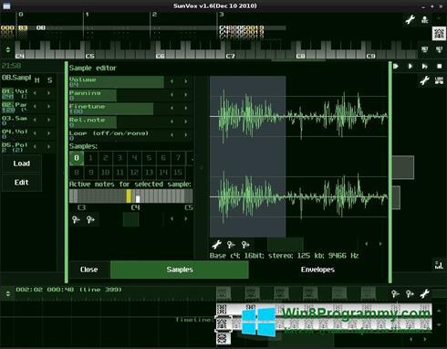 Скриншот программы SunVox для Windows 8