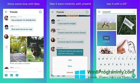 Скриншот программы Yahoo Messenger для Windows 8