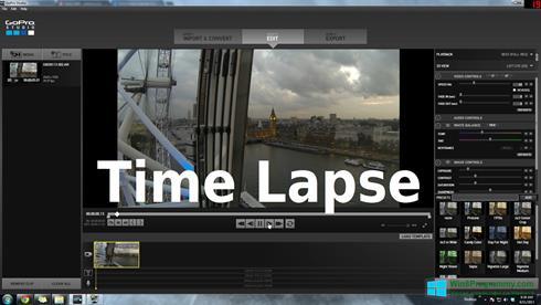 Скриншот программы GoPro Studio для Windows 8