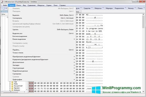 Скриншот программы EmEditor для Windows 8