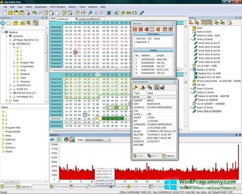 Скриншот программы Hex Editor Neo для Windows 8