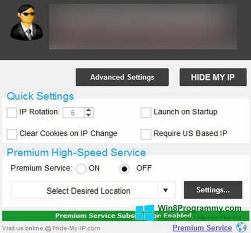 Скриншот программы Hide My IP для Windows 8