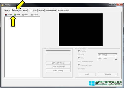 Скриншот программы D-ViewCam для Windows 8