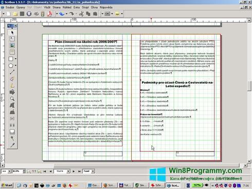 Скриншот программы Scribus для Windows 8