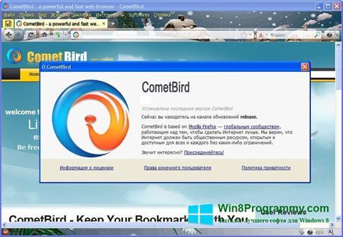 Скриншот программы CometBird для Windows 8