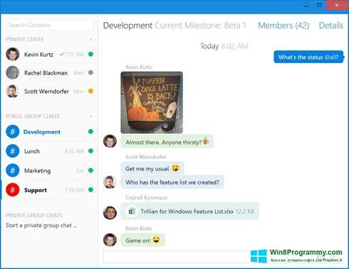 Скриншот программы Trillian для Windows 8