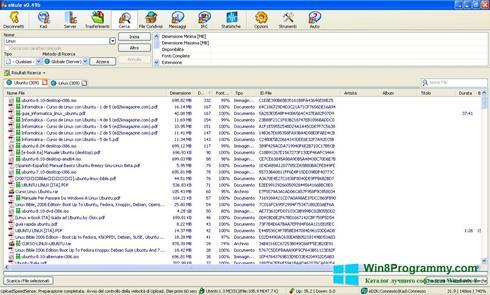 Скриншот программы eMule для Windows 8