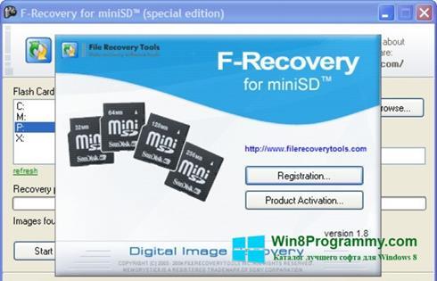 Скриншот программы F-Recovery SD для Windows 8