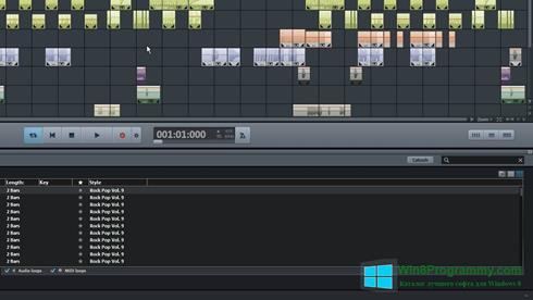 Скриншот программы MAGIX Music Maker для Windows 8