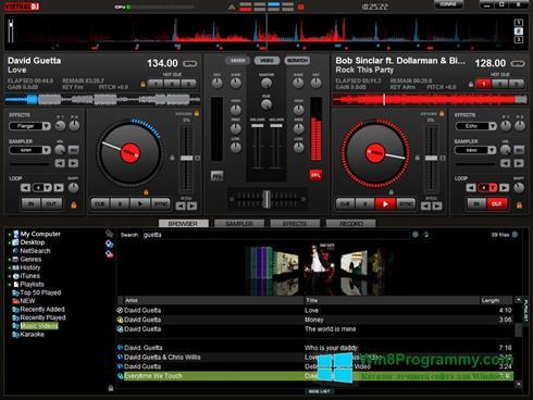 Скриншот программы Virtual DJ для Windows 8