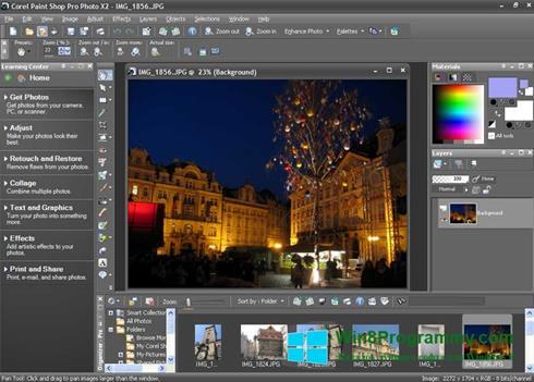 Скриншот программы PaintShop Pro для Windows 8