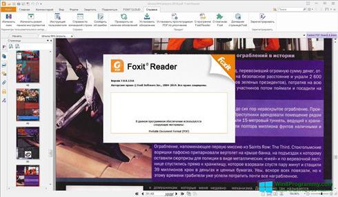 Скриншот программы Foxit Reader для Windows 8