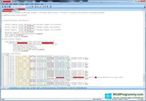 Скриншот программы SecureCRT для Windows 8