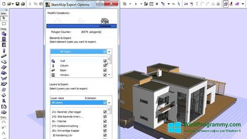 Скриншот программы ArchiCAD для Windows 8