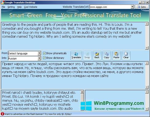 Скриншот программы QDictionary для Windows 8