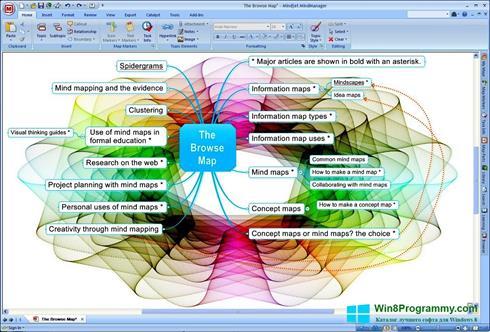 Скриншот программы MindManager для Windows 8