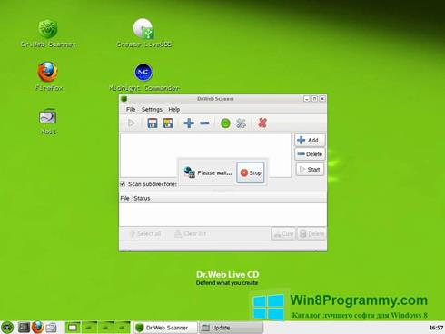 Скриншот программы Dr.Web LiveCD для Windows 8
