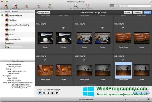 Скриншот программы iPhoto для Windows 8