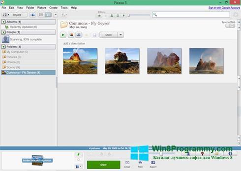 Скриншот программы Picasa для Windows 8