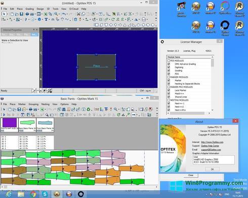 Скриншот программы OptiTex для Windows 8