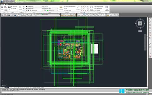 Скриншот программы DWG TrueView для Windows 8