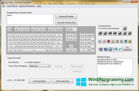 Скриншот программы KeyTweak для Windows 8