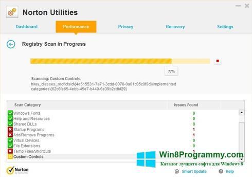 Скриншот программы Norton Utilities для Windows 8