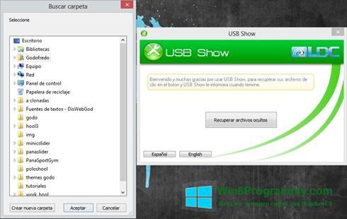 Скриншот программы USB Show для Windows 8