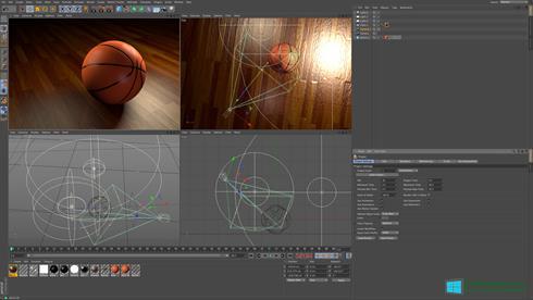 Скриншот программы CINEMA 4D для Windows 8