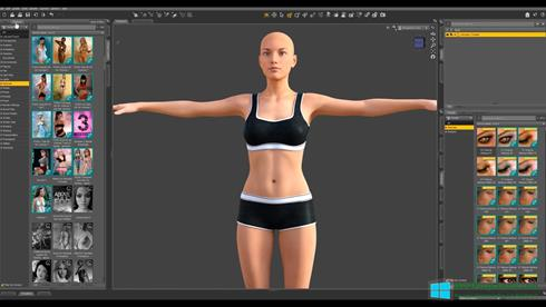Скриншот программы DAZ Studio для Windows 8