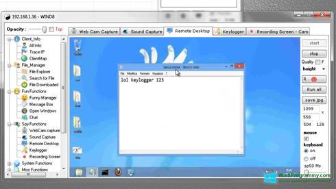 Скриншот программы Remote Administration Tool для Windows 8