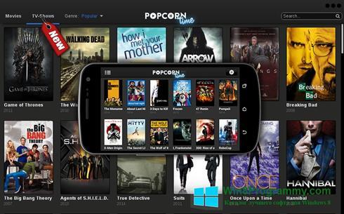 Скриншот программы Popcorn Time для Windows 8