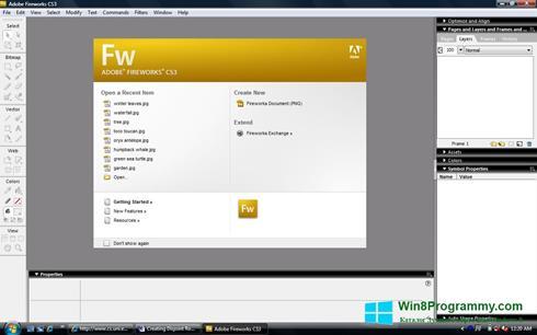 Скриншот программы Adobe Fireworks для Windows 8