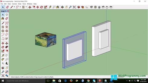 Скриншот программы SketchUp Make для Windows 8