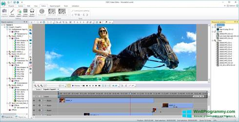 Скриншот программы Free Video Editor для Windows 8