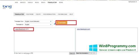 Скриншот программы Bing Translator для Windows 8