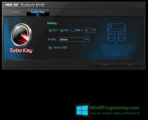 Скриншот программы TurboV EVO для Windows 8