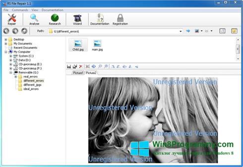 Скриншот программы File Repair для Windows 8